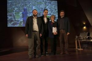 """Equipo de Gobierno de Manuela Carmena en el acto de presentación del proyecto del Ayuntamiento """"Madrid Puerta Norte"""". Foto: Ayuntamiento"""